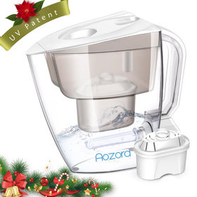 China New arrival UV lamp alkaline water filter pitcher