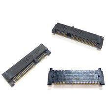 Taiwan 0.8mm Mini PCI Express Socket H:4.0mm 52Pin SMT Type Nut, Screw Option