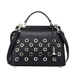 Las Handbag With Silver Hardware