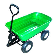 China Tipping Cart, Made of Steel, Plastic and Rubber
