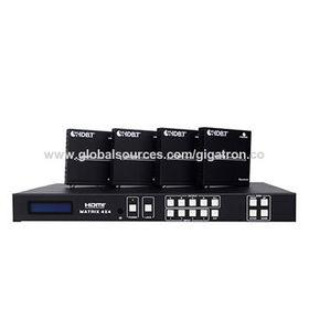 China HDMI 1.4, HDCP 1.4,DVI 1.0 compliant, over cat5e/6/7, HDBaseT 4x4 HDMI Matrix