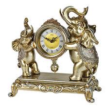 China Luxury decorative elephant table clock