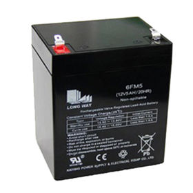 China 12V/5Ah AGM chargeable battery for communication equipment