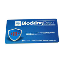 China Retail RFID blocking card as a gift to help you protect your money