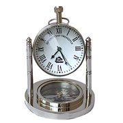 Wholesale Nautical Table Top Clock & Compass Antique Gift, Nautical Table Top Clock & Compass Antique Gift Wholesalers