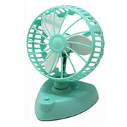 Hong Kong SAR Mini Rotation Desk Fan with ABS Housing and EVA Fan Blades, Operated with 3 x AA Batteries