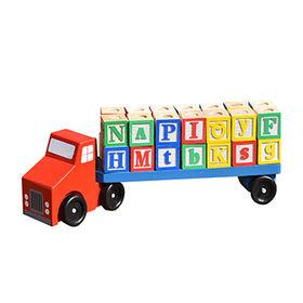 China Mini wooden toy tow trucks