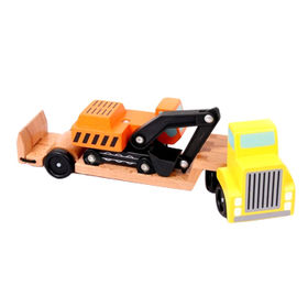 China Kid's mini wooden tow truck toy