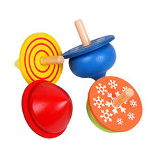 Wooden spin top for kids