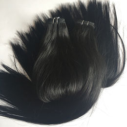 China Black Color Remy Human Hair Weaves
