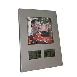 China Modern Digital Photo Frame Alarm with Electronic LCD Weather Station Clock