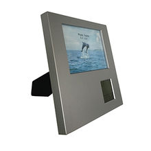 China Customized design photo frame with LCD clock can stand on its own and hanged on the wall