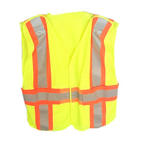 Hi-vis Safety Vest 100% Polyester Tricot/Knitting from Zhejiang Yinguang Reflecting Material Manufacturing Co. Ltd