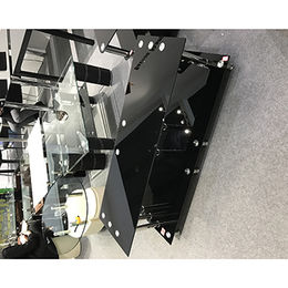 Tempered Glass and Stainless Steel TV Stand from Langfang Peiyao Trading Co.,Ltd