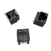 Taiwan Top Entry Modular Jack PCB Connector M-type SMT, DIP Type Black