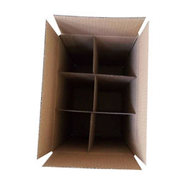 China Free Sample 6-pack Cardboard Wine Bottle Box with Inner Divider