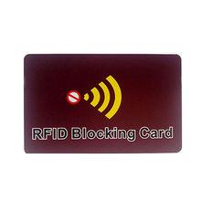 China RFID blocking card with CMYK customized design printing to block NFC signal