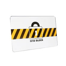 China RFID blocking card with chip inside to build a E-field prevent nearby RFID signal from scanning