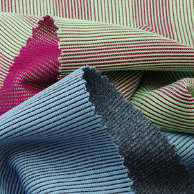 2-Tone Vertical Stripe Reversal Rib Fabric, 100% Polyester Piece Dye from Lee Yaw Textile Co Ltd