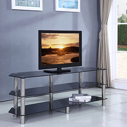 Tempered-glass TV Stands for Sale, Stainless Steel Legs from Langfang Peiyao Trading Co.,Ltd