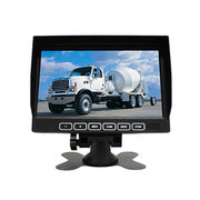 Touch buttons 7inch digital lcd monitor 4channel quad video inputs car monitor from Shenzhen Luview Co. Ltd