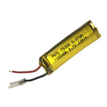 Cylindrical Rechargeable 3.7V/100mAh 75300 Lithium-ion Polymer Battery for Bluetooth Earphones from Dongguan Perfect Amperex Technology Limited