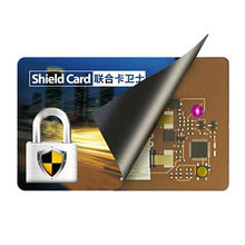 China Active Rechargeable RFID Blocking Card with 5.5cm Blocking Distance
