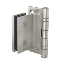 Glass door stainless steel hinge, dual bearing from Door & Window Hardware Co