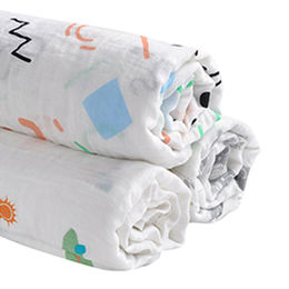 China Hot Sale 70% Bamboo and 30% Cotton Muslin Blanket for Baby and Toddler