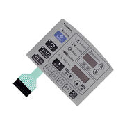 China 2.54mm female connector embossing buttons membrane switches