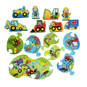 China Puzzle and Play-Construction Site Safe Foam Bath Toy