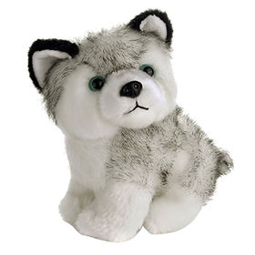 Husky plush stuffed toy plush husky with ICTI approval from Dongguan Yi Kang Plush Toys Co., Ltd