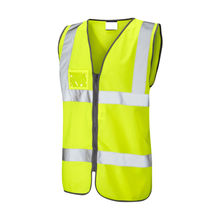 Knitted polyester Hi-Vis yellow vest