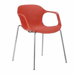 Hot Selling Plastic Chair with Metal Legs from Langfang Peiyao Trading Co.,Ltd