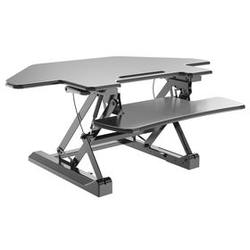 Sit and stand height adjustable desk from Qidong Vision Mounts Manufacturing Co. Ltd