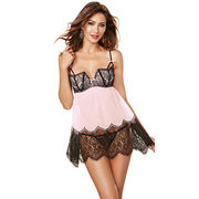 Sexy lingerie made of lace, available size S, M, L, XL, XXL, customized from Meimei Fashion Garment Co. Ltd