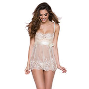 Sexy lingerie made of lace, available size S, M, L, XL, XXl, customized accepted from Meimei Fashion Garment Co. Ltd