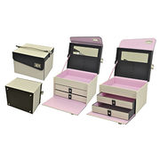 High End Leather Cosmetic Storage Makeup Box from Sanjiang Packaging Manufacturer Co. Ltd