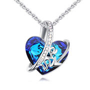 China 2018 New Fashion love Design Austrian Crystal Necklace for Women