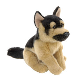 Plush German shepherd custom plush toy with ICTI approval from Dongguan Yi Kang Plush Toys Co., Ltd