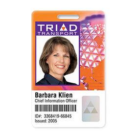 China Employee ID Card RFID Chip Card Barcode Prepunch On Global - Employee id card