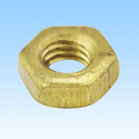 Nut, made of brass, CNC machined part, customized designs are welcome from HLC Metal Parts Ltd