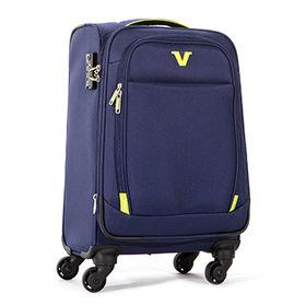 China 4-spinner wheels softside luggage new design travel luggage suitcase upright travel cases 20/24/28