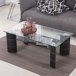 China Transparent Tempered Glass with PVC Legs