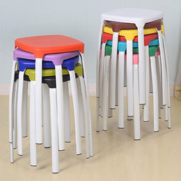 Simple stackable plastic stool for adult use from Langfang Peiyao Trading Co.,Ltd