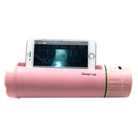 China 2017 New-Bluetooth Speaker Water Bottle with Mobile Phone Charger,Phone Holder and Selfie Taking