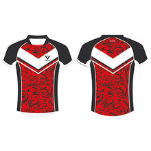 Rugby Shirts, Made of 100% Polyester Fabric, with Digital Sublimation Fluorescence Printing