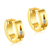 China 2018 New Fashionable Three Colors Design Titanium hoop Earrings for men