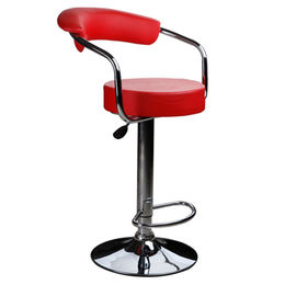 Colorful leather swivel bar stool with metal base from Langfang Peiyao Trading Co.,Ltd