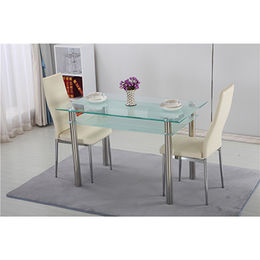 China Cheap modern glass, dining room tables